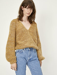 Dolly wrap knit - swetry - nature combo