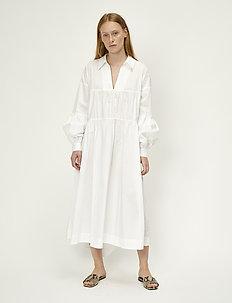 Brandy maxi dress - do kolan & midi sukienki - white