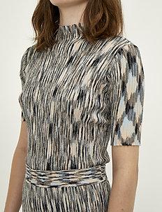 Pira knit blouse - knitted tops & t-shirts - pira multi
