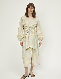 Nikki maxi dress - wrap dresses - pastel tie dye
