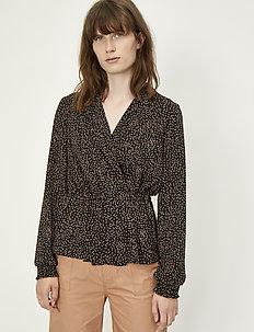 Imogene wrap blouse - bluzki dlugim rekawem - imogene mini dot