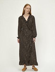 Imogene maxi wrap dress - maxi sukienki - imogene mini dot