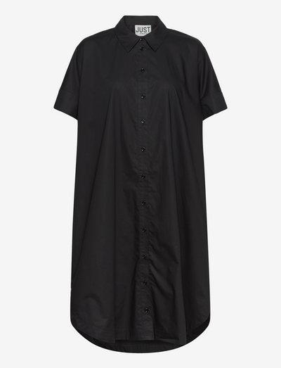 Noria shirt dress - summer dresses - black