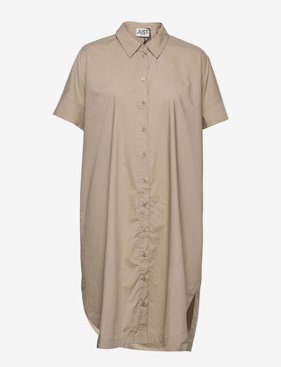 Noria shirt dress - summer dresses - taupe