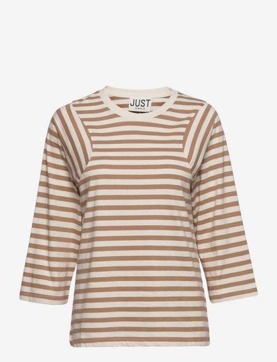 Never tee - t-shirt & tops - buttercream stripe