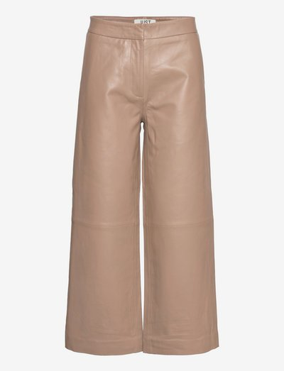 Roxy leather trousers - leather trousers - pine bark