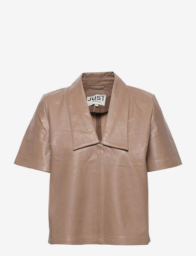 Laurene blouse - short-sleeved blouses - pine bark