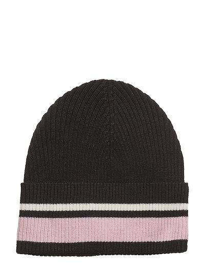 Trix beanie - BLACK ROSE STRIPE