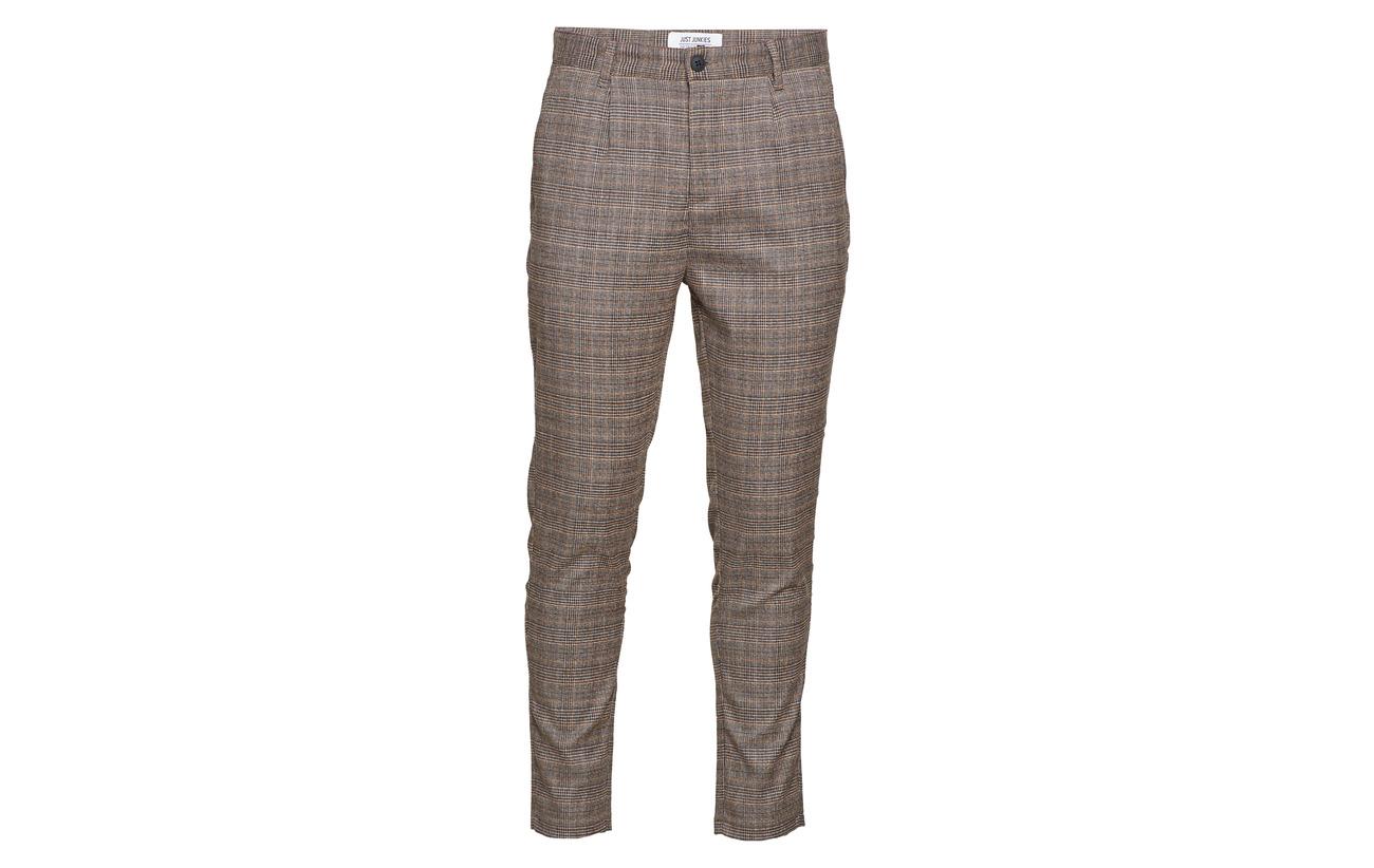 Brown Linus Check Slim Junkies Pants Just 4nX1qYw5