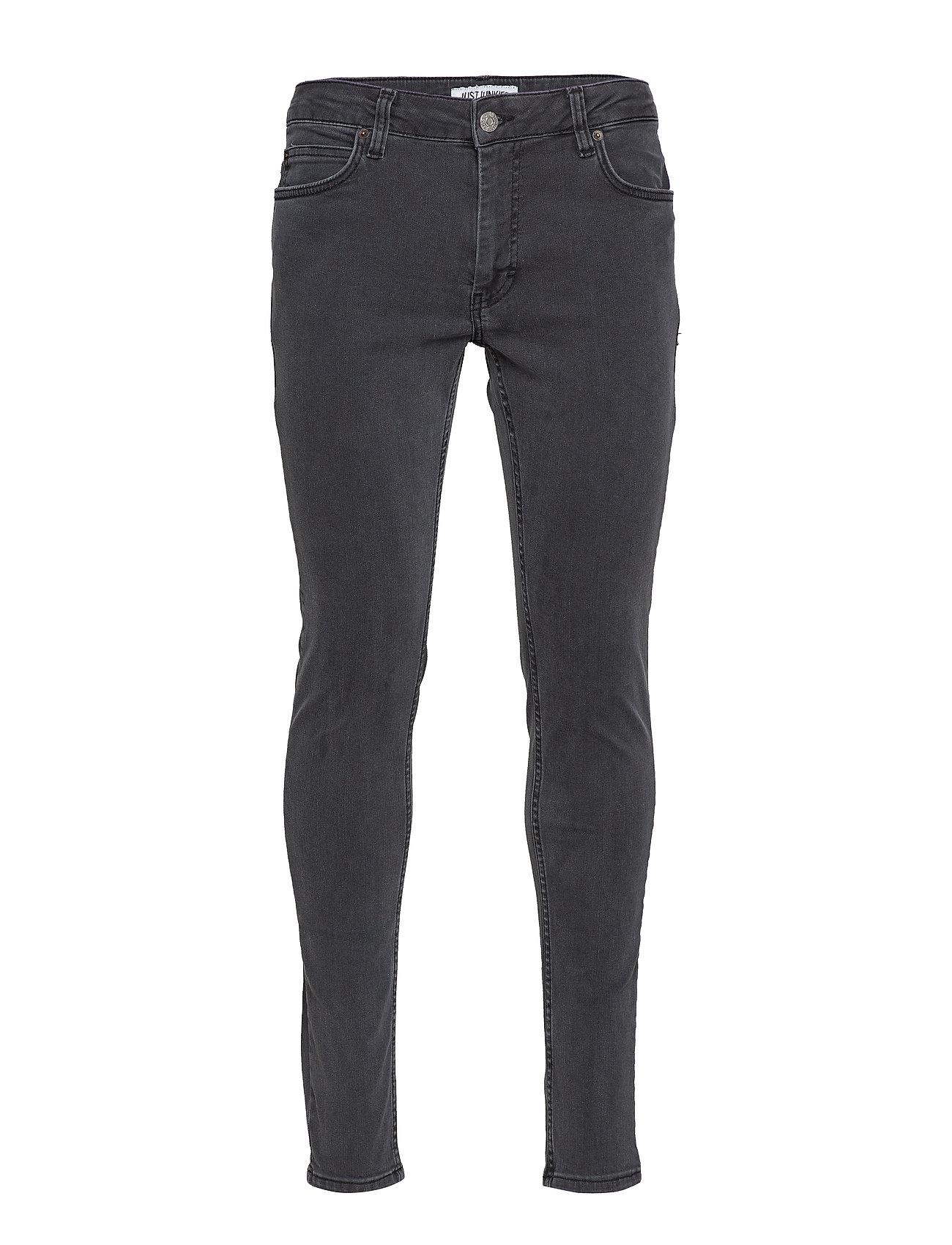 Image of Max Plain Grey Skinny Jeans Sort JUST JUNKIES (3110999267)