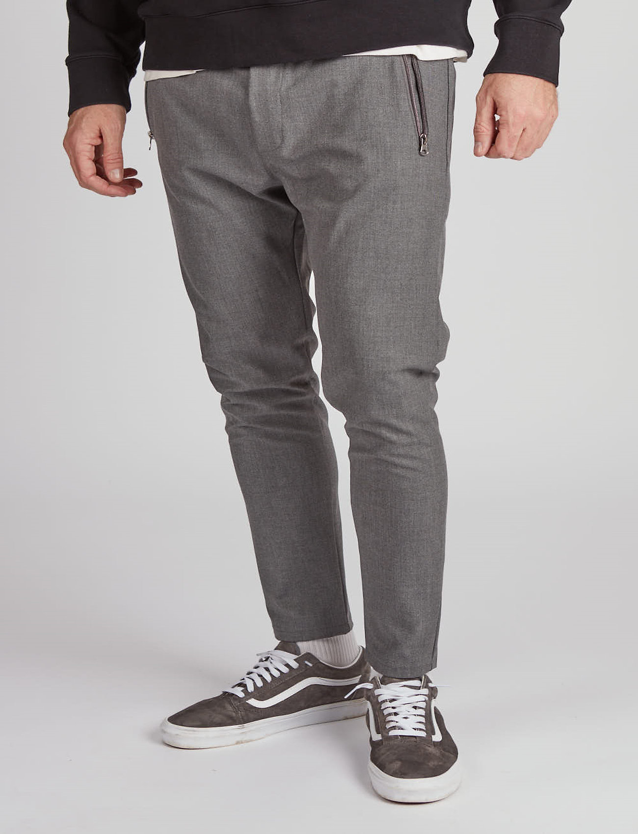 Just Junkies - Flex Bistretch 2.0 - spodnie na co dzień - mid grey mell - 0