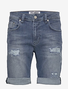 Mike Shorts Rain blue - jeansowe szorty - rain blue