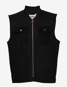 Carl Vest - vests - black