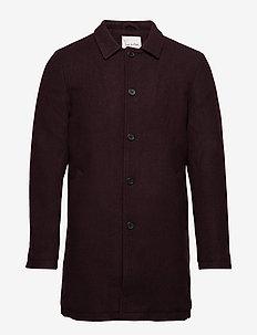 Stefan Wool New - wool coats - bordeaux