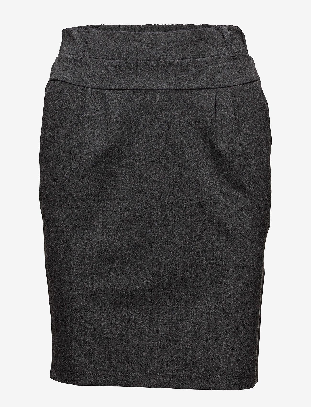 Kaffe - Jillian Skirt - midinederdele - dark grey melange - 1
