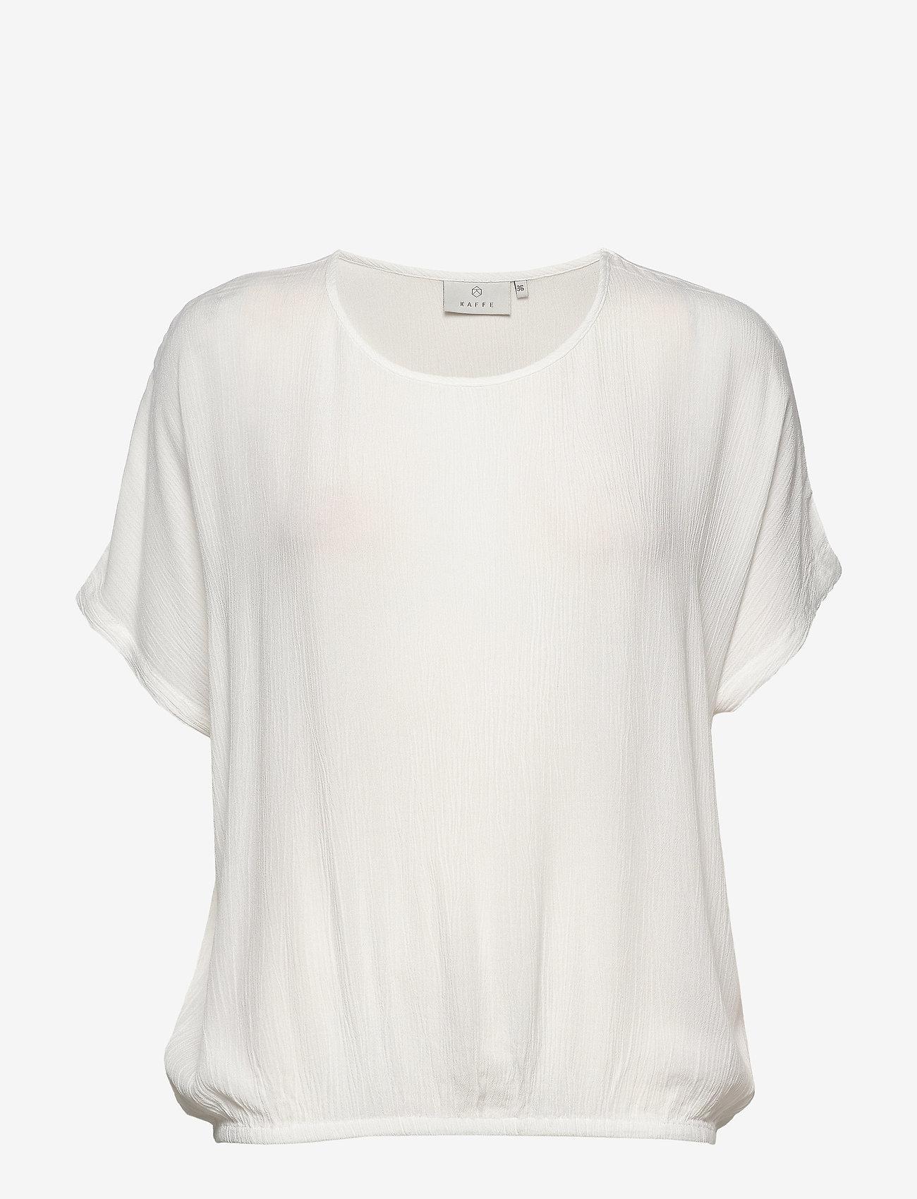 Kaffe - Amber Stanley SS - blouses à manches courtes - chalk
