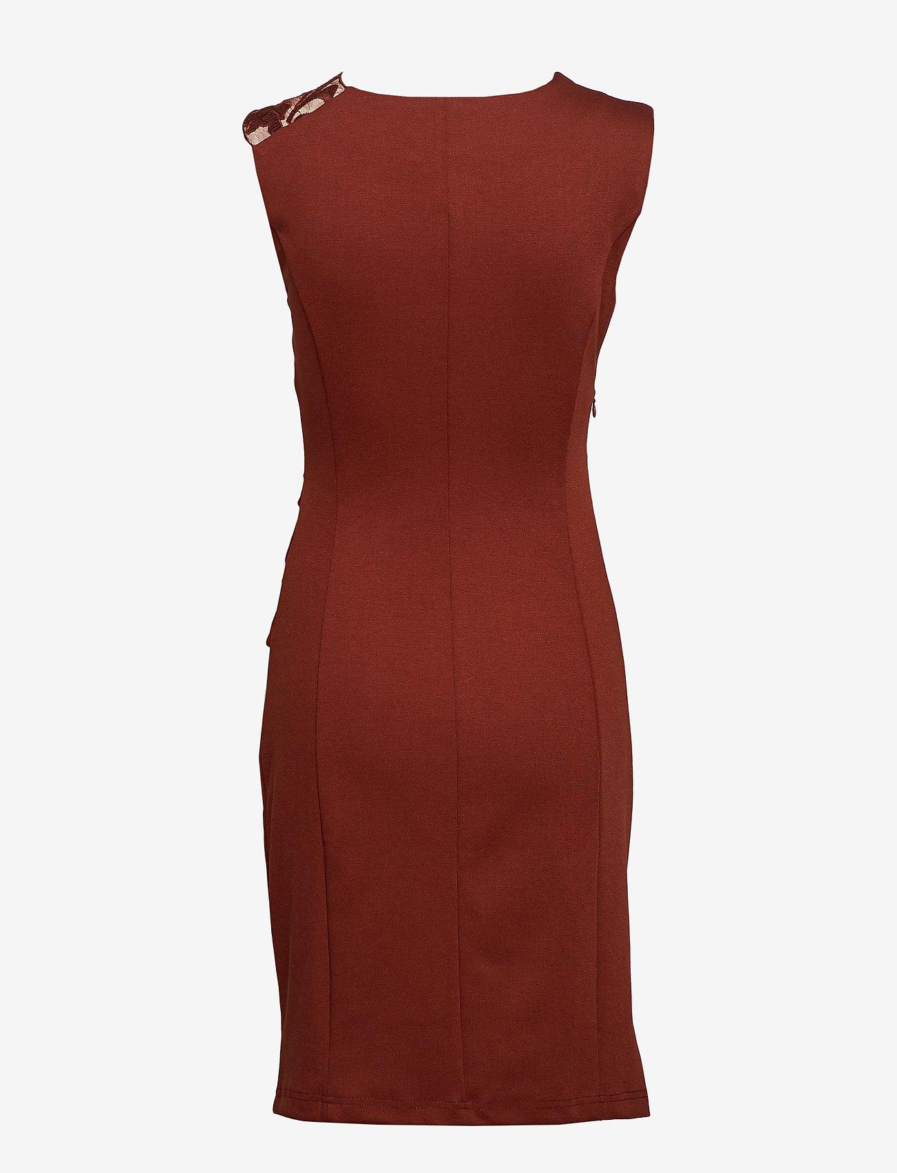 Kaffe - India Vivi Dress - midi dresses - cherry mahogany - 1