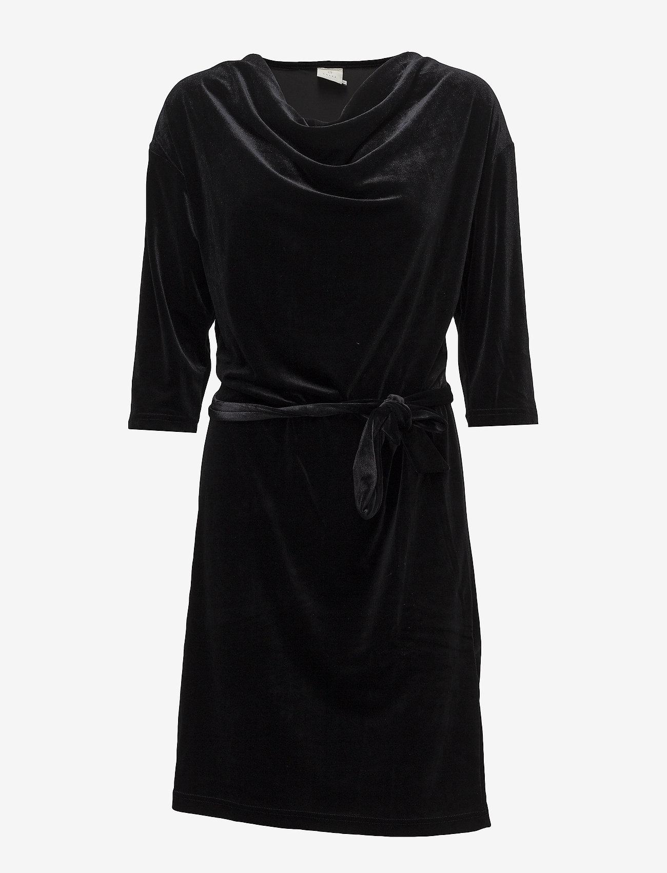 Kaffe - Selba Velvet Dress - robes longeur du midi - black deep