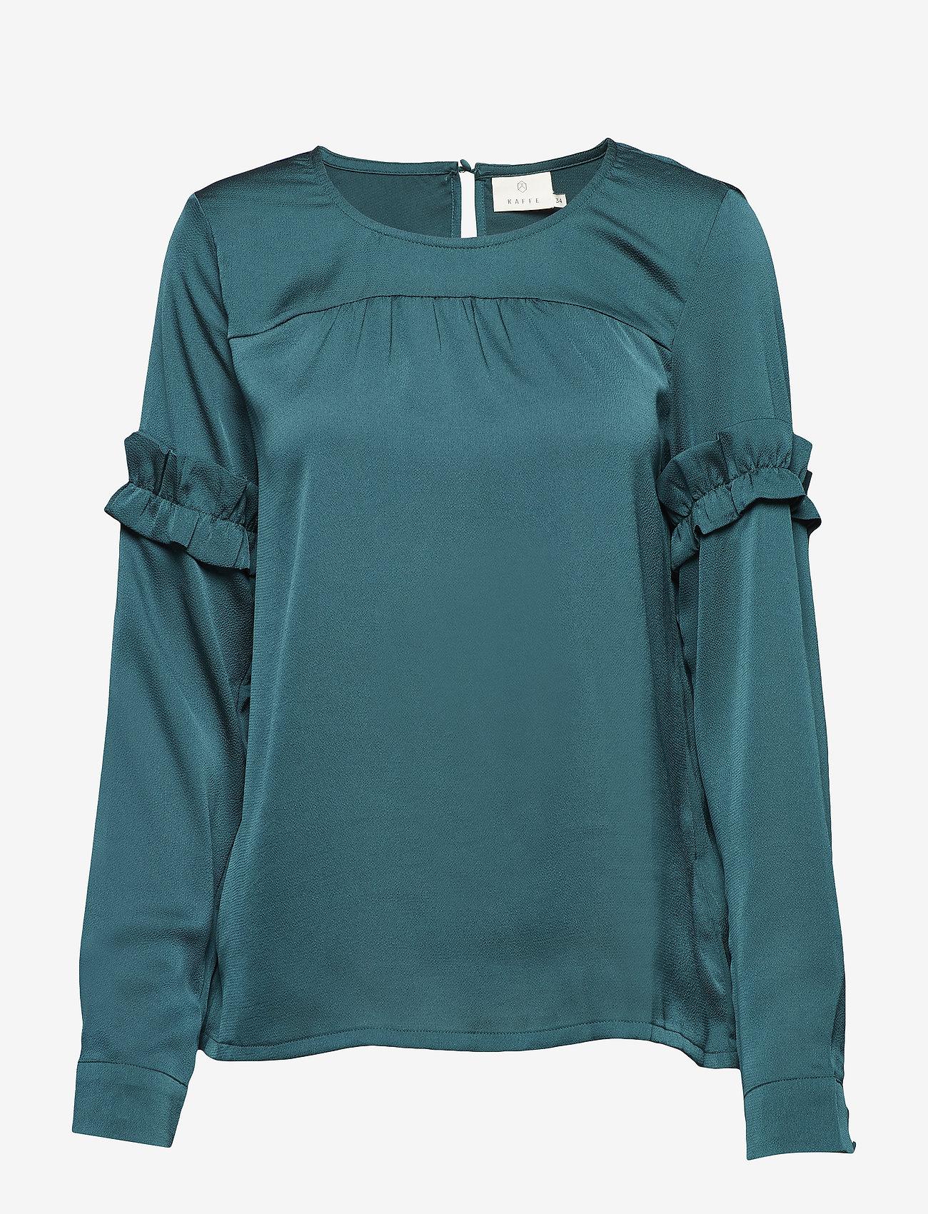 Kaffe - Vitta Blouse - long sleeved blouses - rain forest