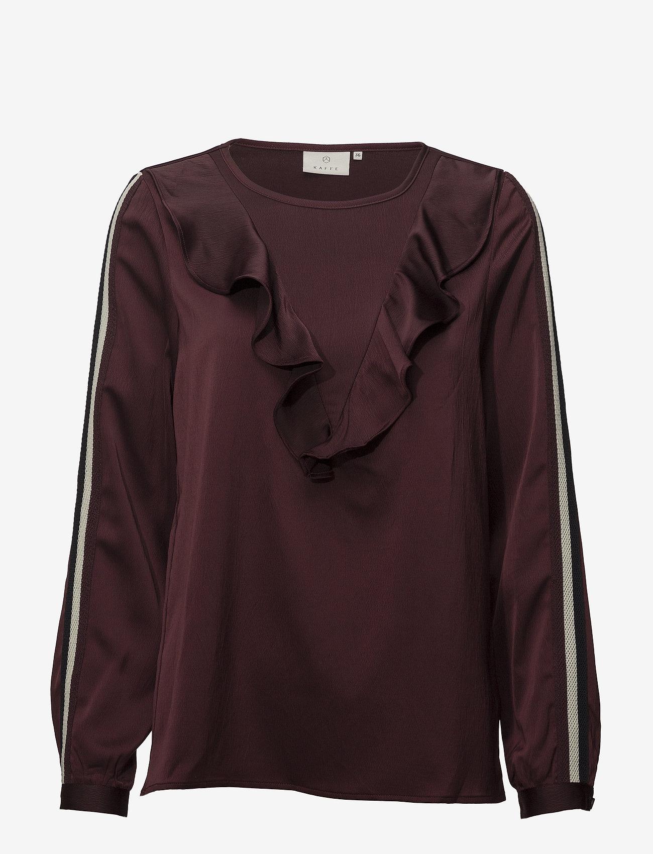Kaffe - Miranda Blouse - long sleeved blouses - zinfandel