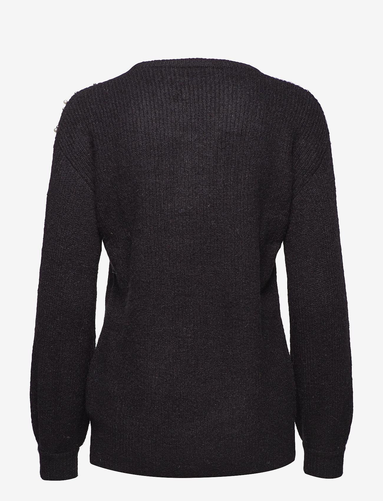 Kaffe - Cammi Rib Knit Pullover - pulls - black deep