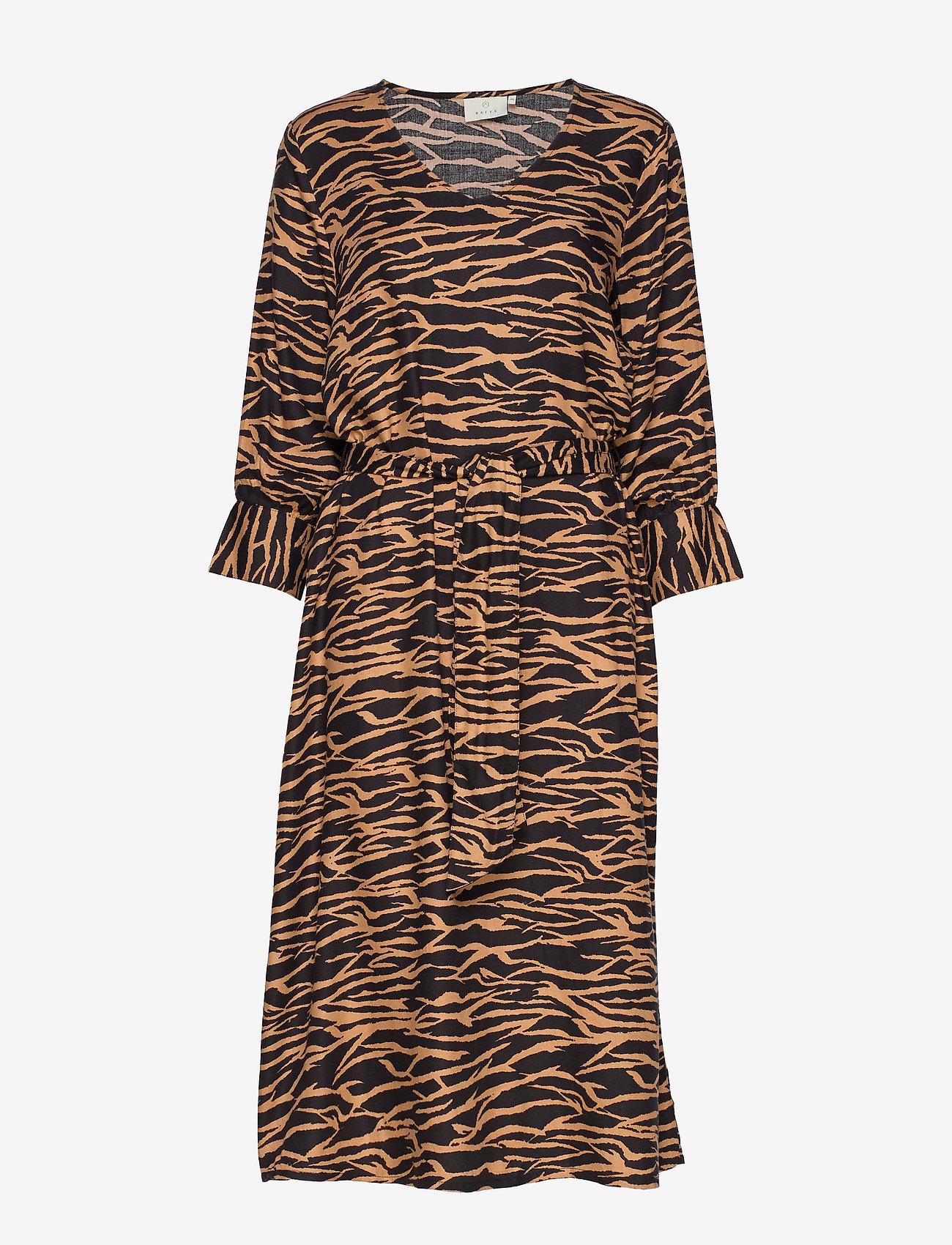 Kaffe - KAseba Dress - midimekot - tiger's eye