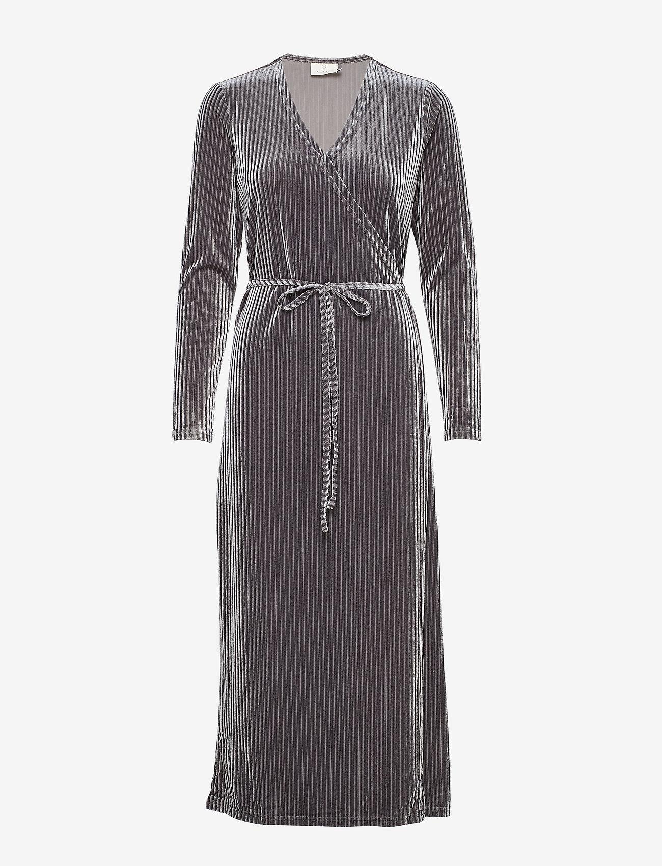 Kaffe - KAviola Wrap Dress - wrap dresses - silver grey