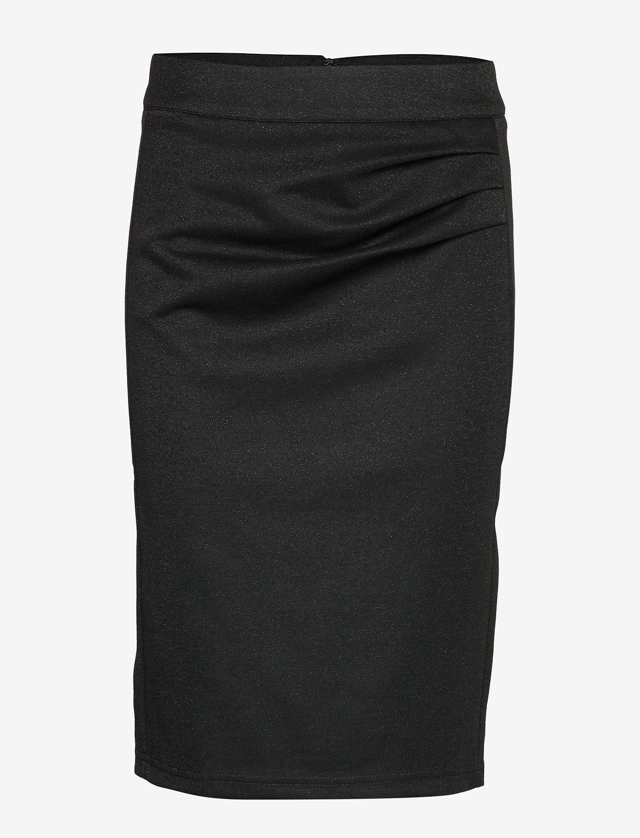 Kaffe - KAsunn Lurex skirt - jupes midi - black deep