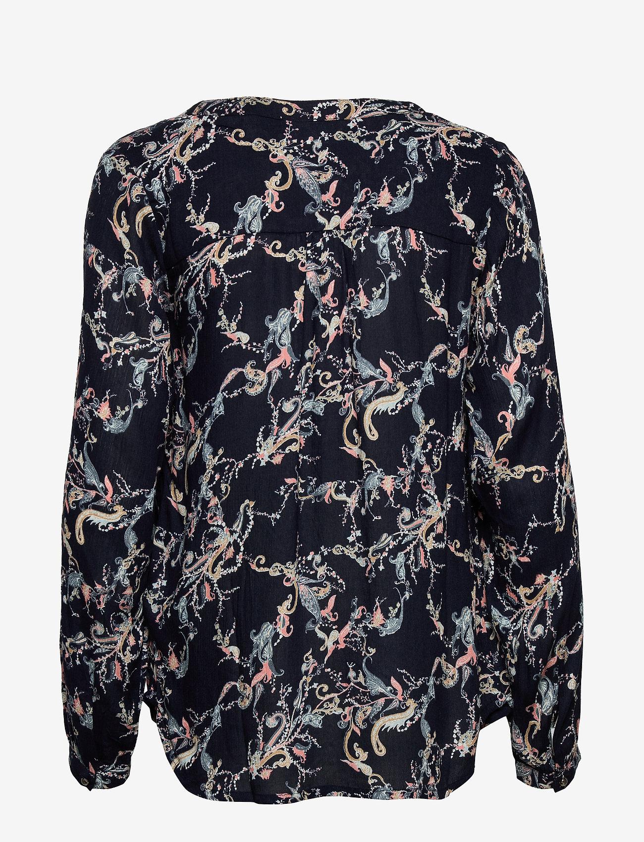 Kaffe KAeverlyn Amber Blouse - Bluzki & Koszule MIDNIGHT MARINE - Kobiety Odzież.