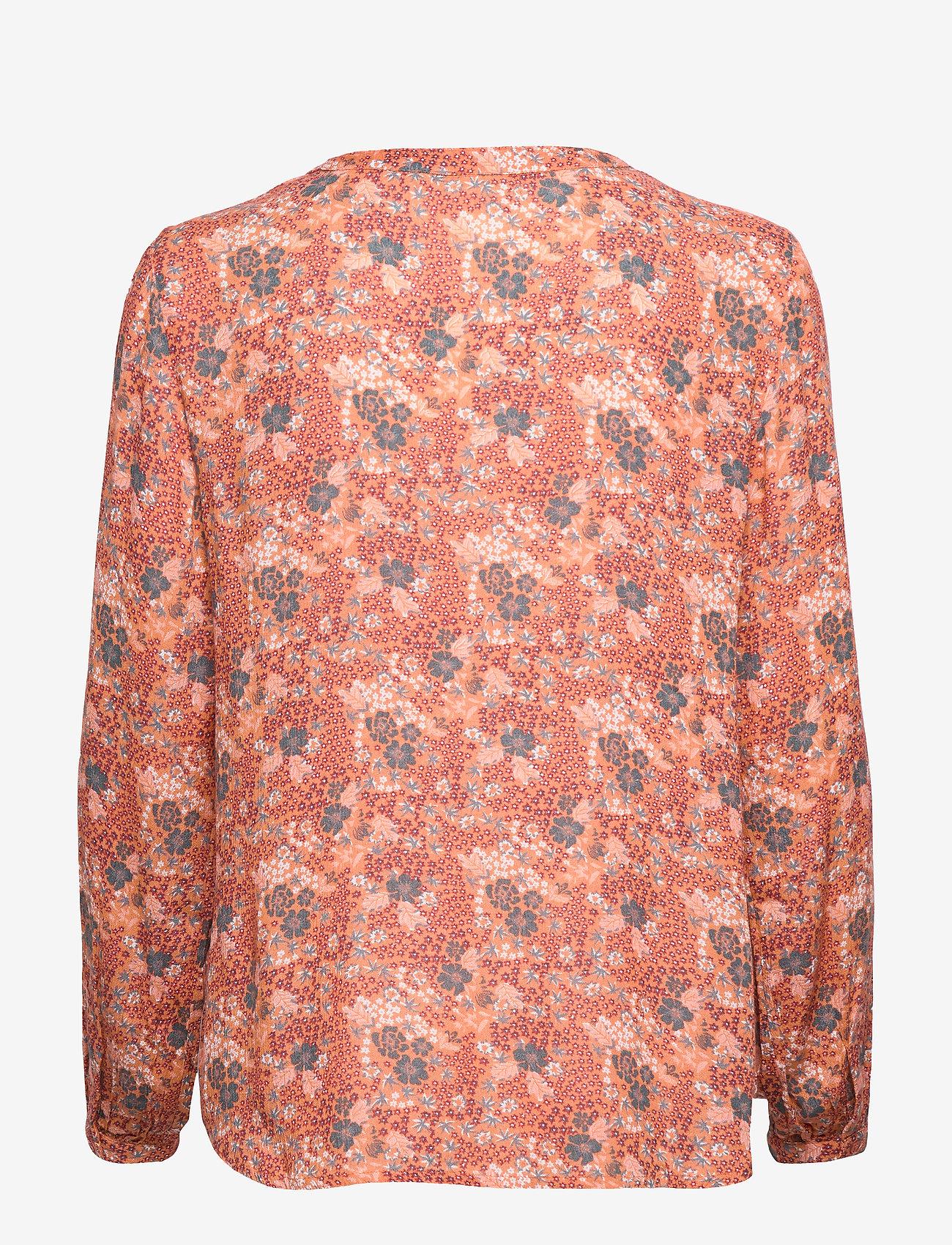 Kaffe KAsana Amber Blouse Min 16 pcs - Bluzki & Koszule DULL ORANGE - Kobiety Odzież.