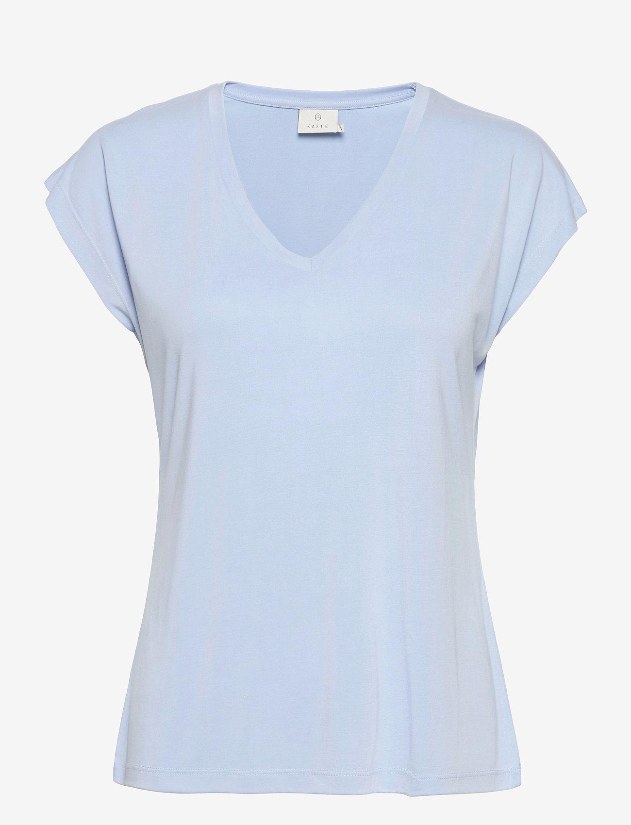 Kaffe - KAlise SS T-shirt - t-shirts - chambray blue - 1