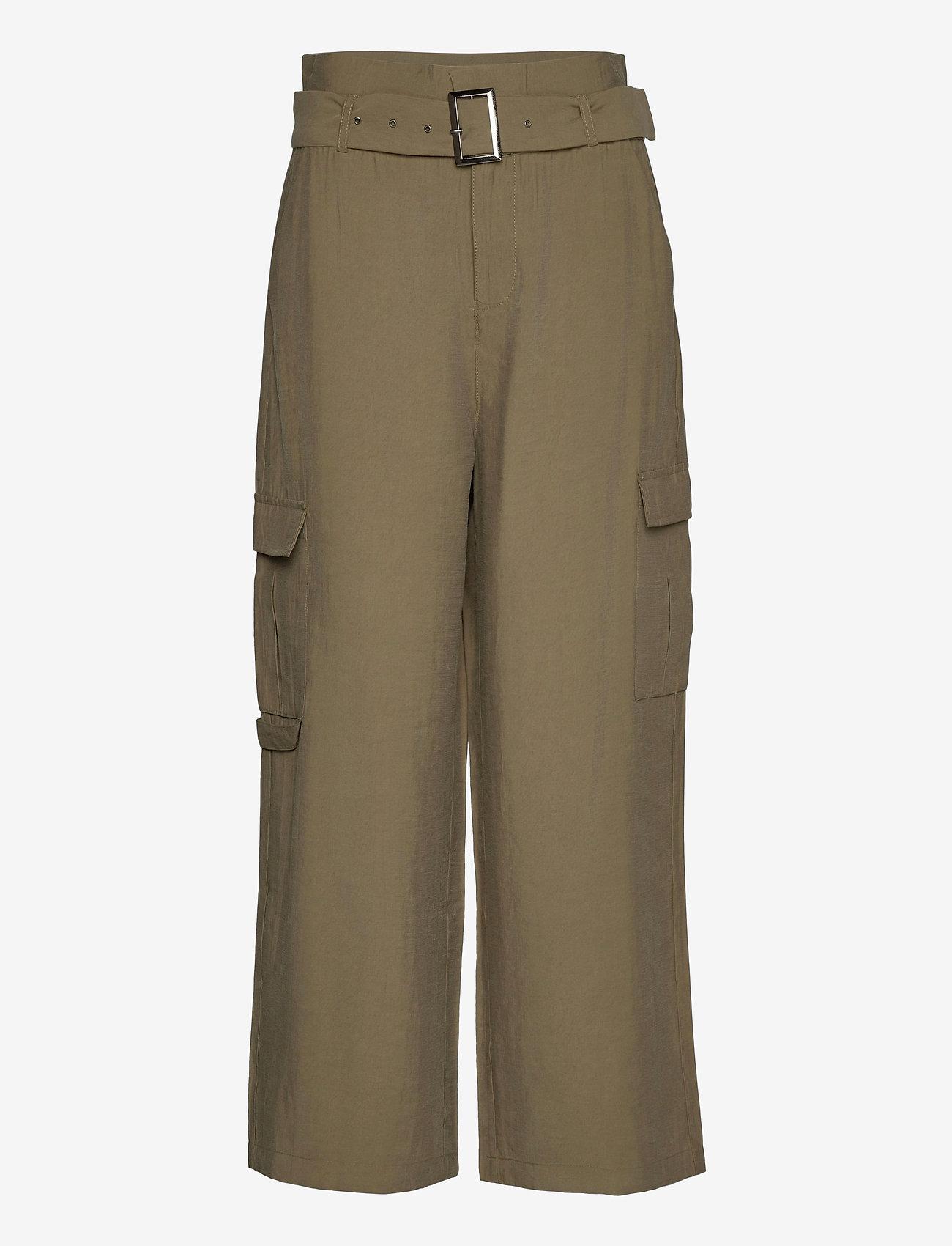 Kaffe - KAmargot Cropped Pants - bukser med brede ben - grape leaf - 0