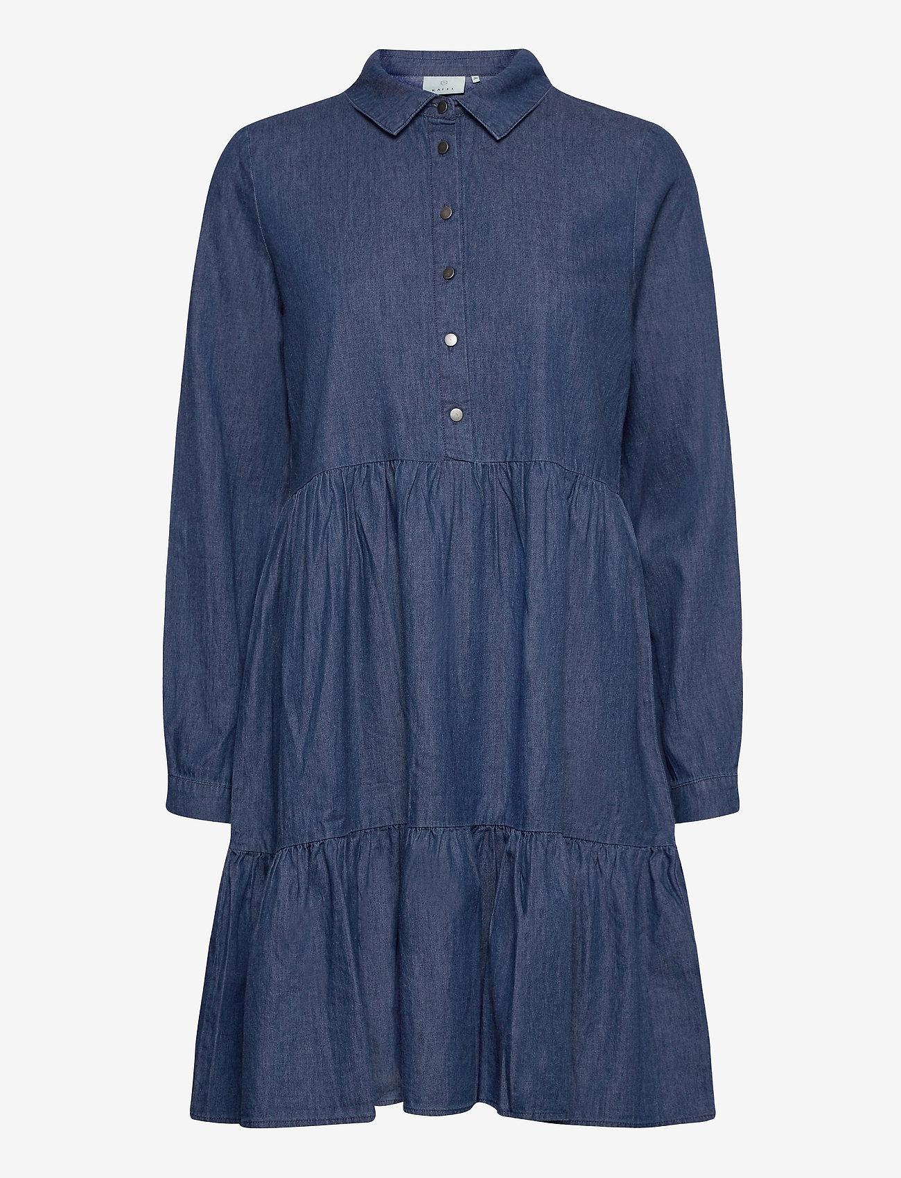 Kaffe - KAtiona Dress - blousejurken - blue denim - 1