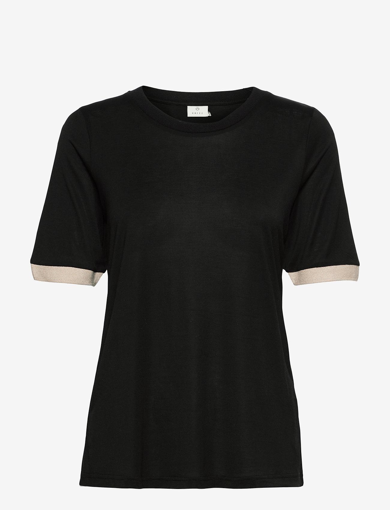 Kaffe - KAclara T-Shirt - t-shirts - black deep - 1