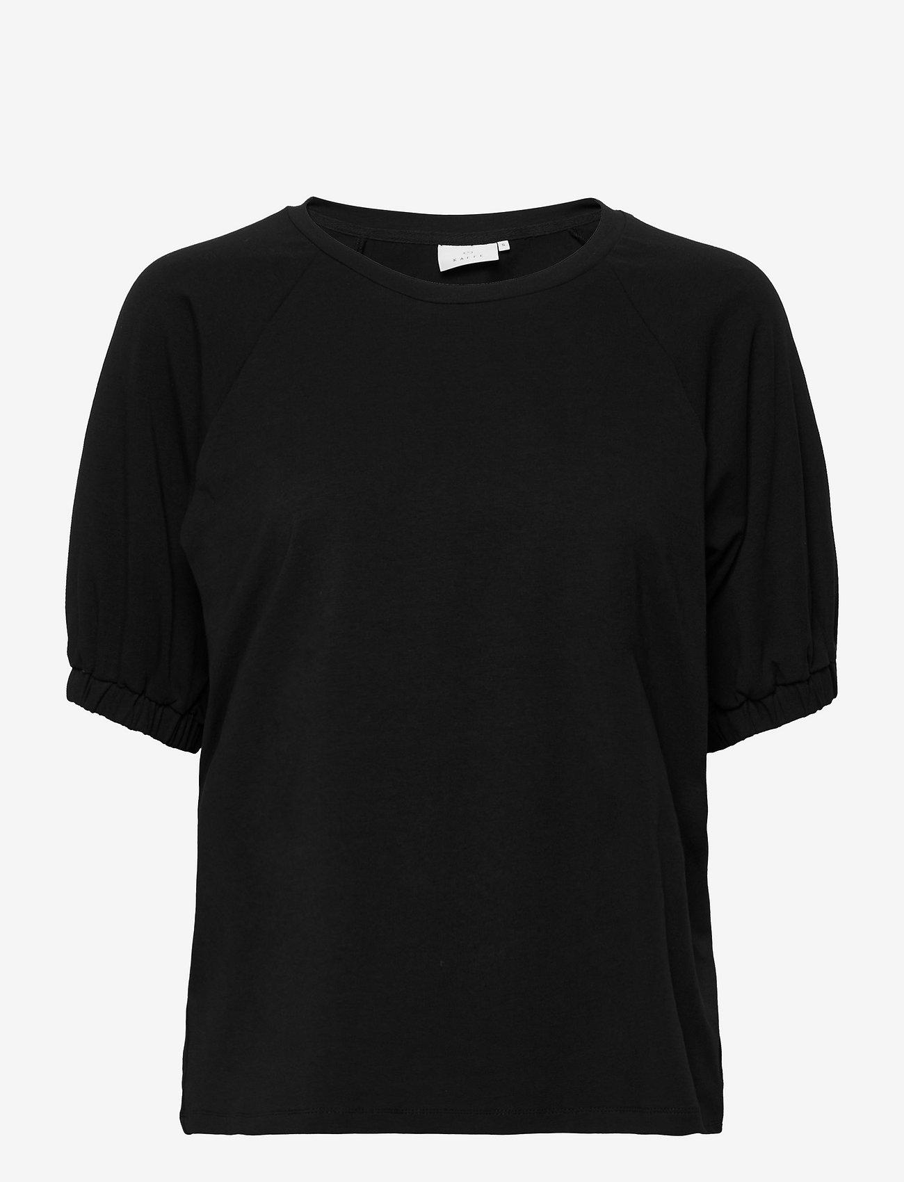 Kaffe - KAdana Linda Blouse - t-shirts - black deep - 0