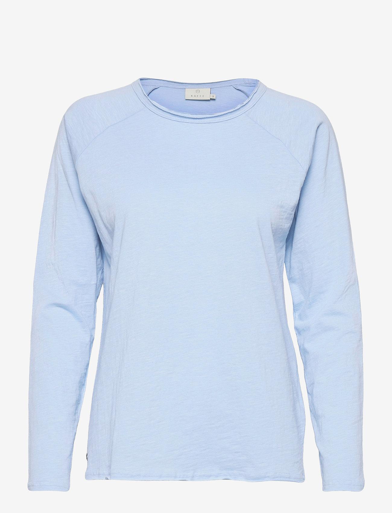 Kaffe - KAvitta LS T-shirt - langærmede toppe - chambray blue - 1