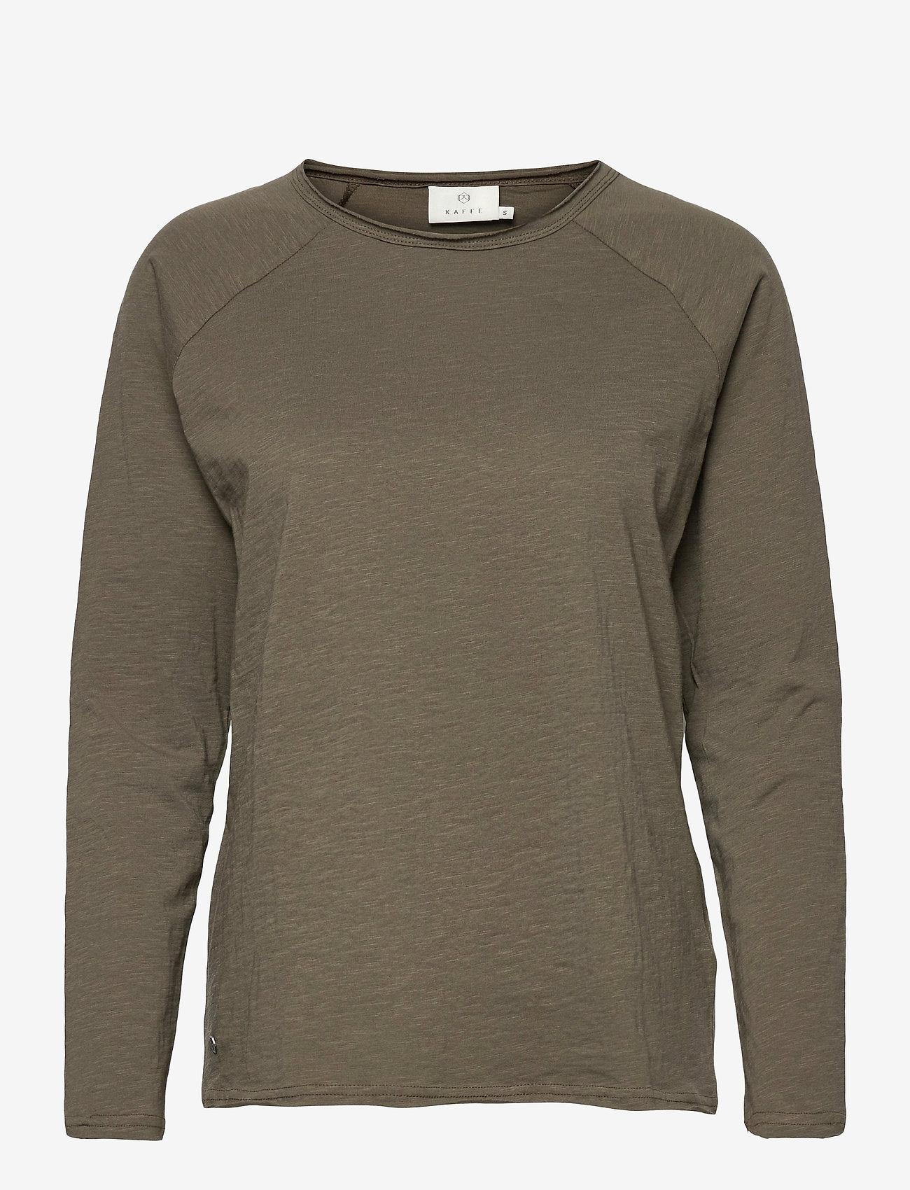 Kaffe - KAvitta LS T-shirt - langærmede toppe - grape leaf - 0