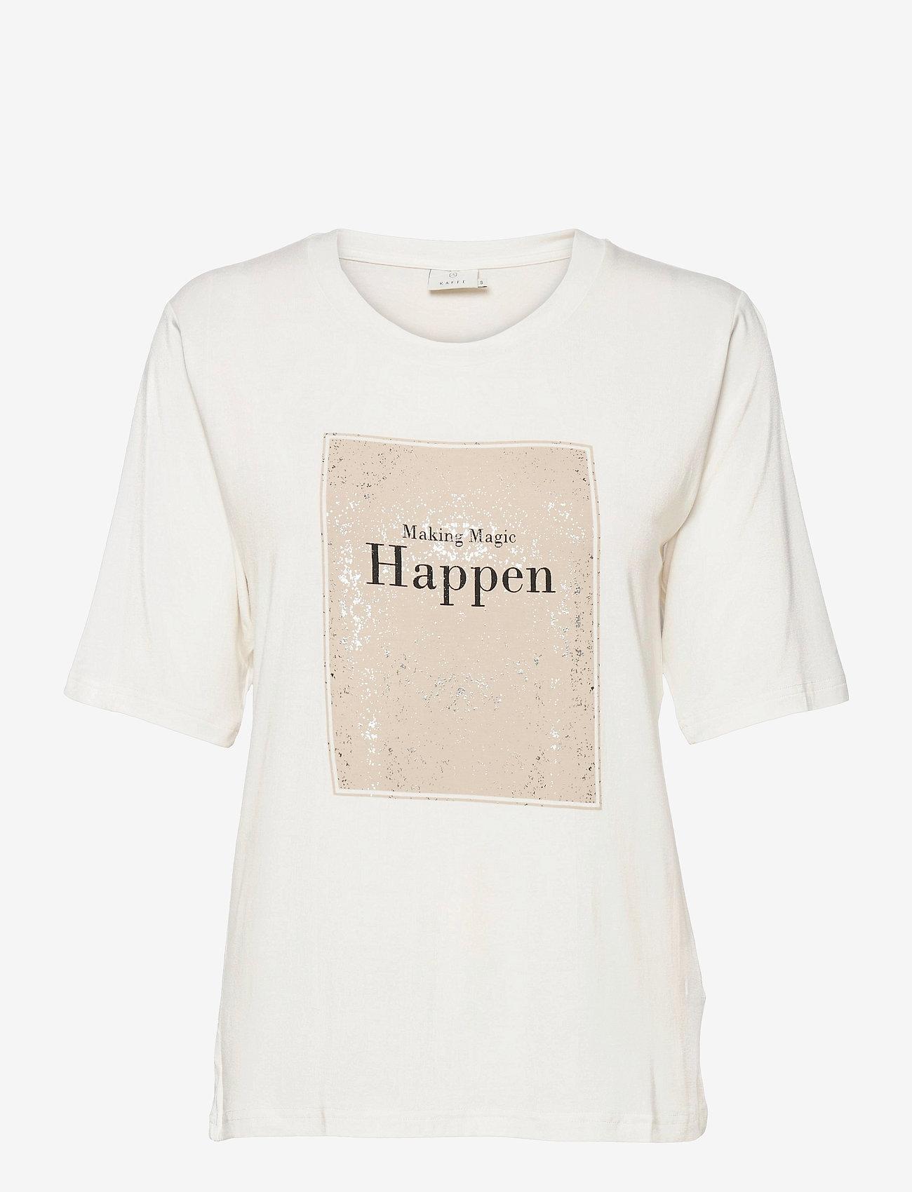 Kaffe - KAmarna SS T-Shirt - t-shirts - chalk - 1