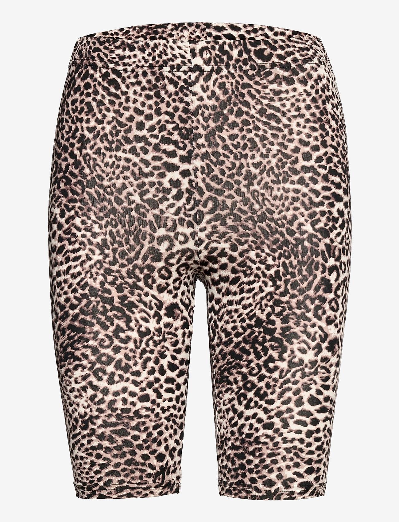 Kaffe - KAanni Jersey Shorts - cykelshorts - classic sand / black leopard - 0