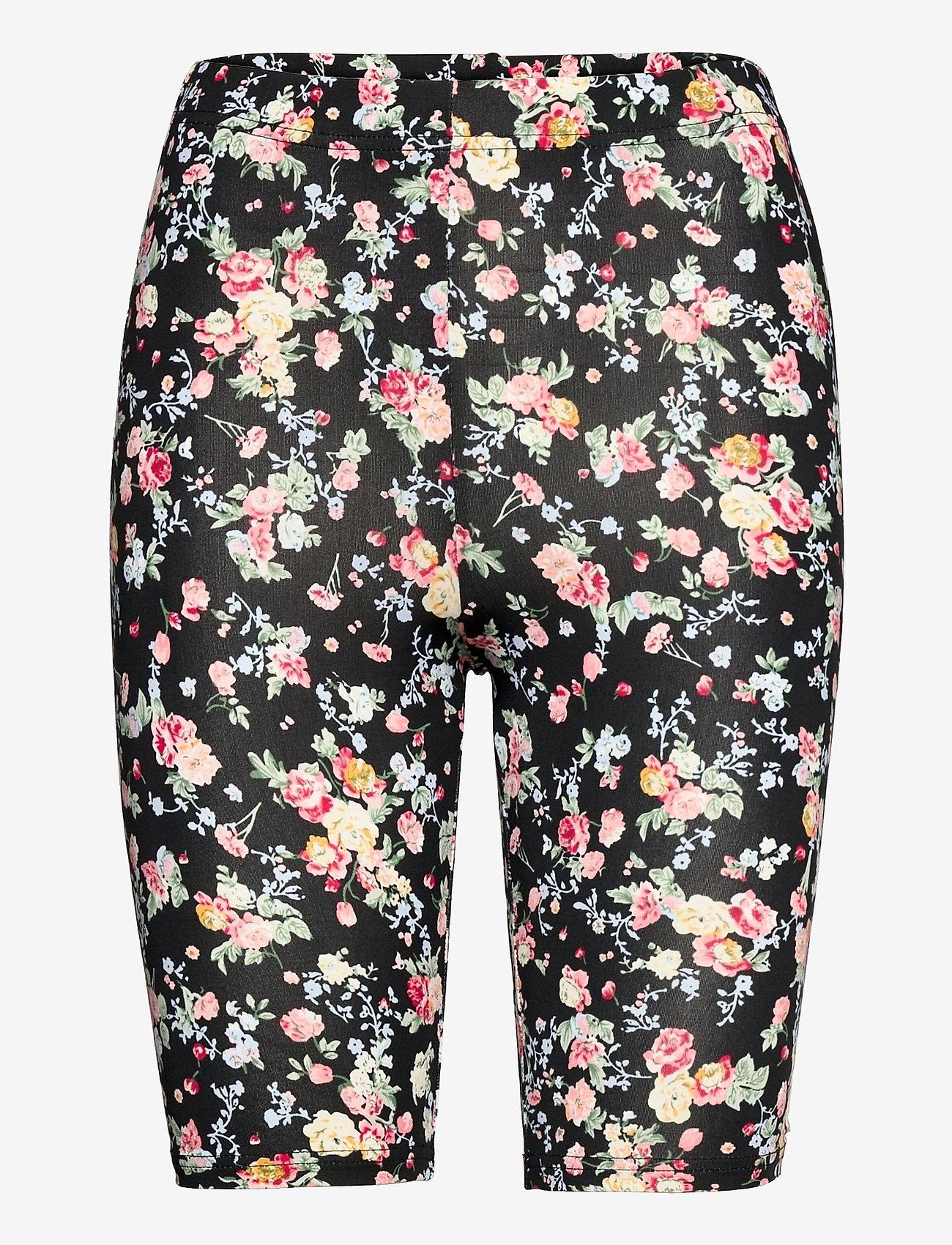 Kaffe - KAanni Jersey Shorts - cykelshorts - pink / blue multi flower - 1
