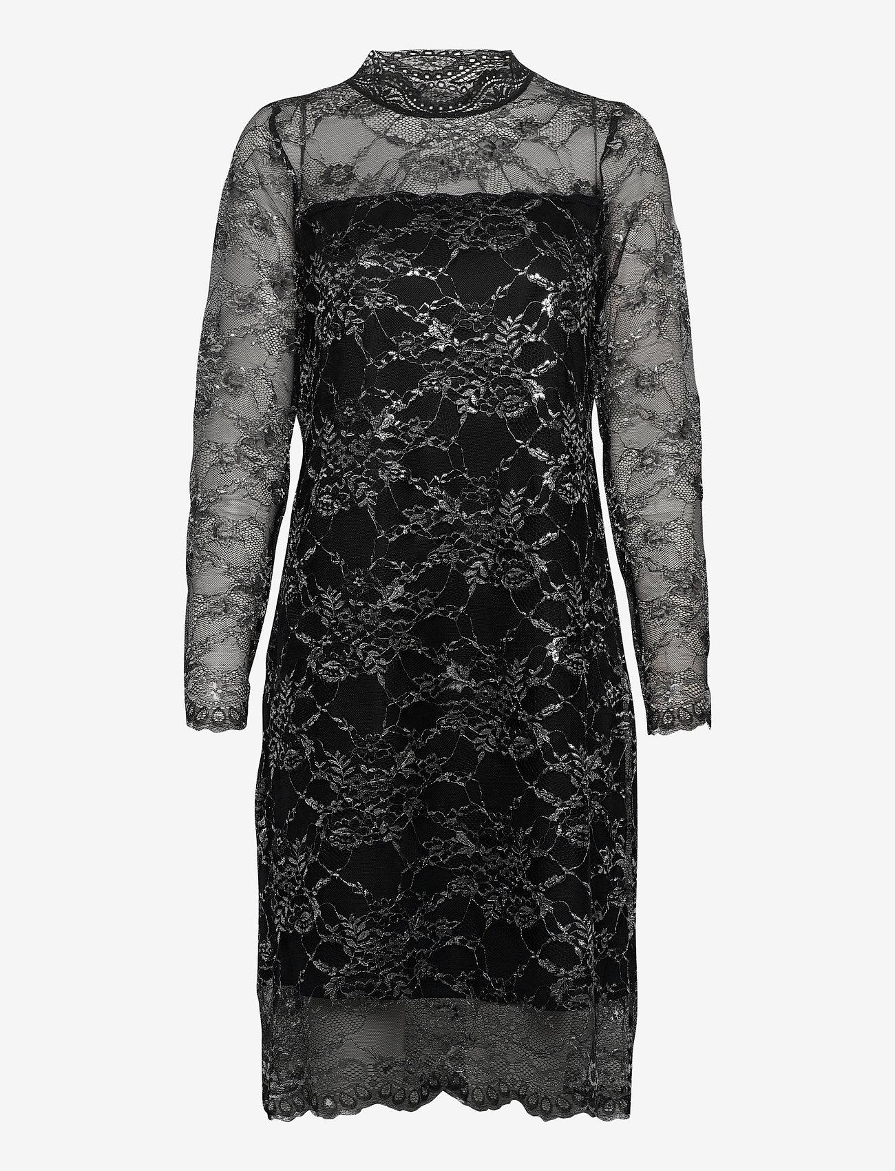 Kaffe - KAamina Lace Dress - bodycon-kjoler - black deep - 0