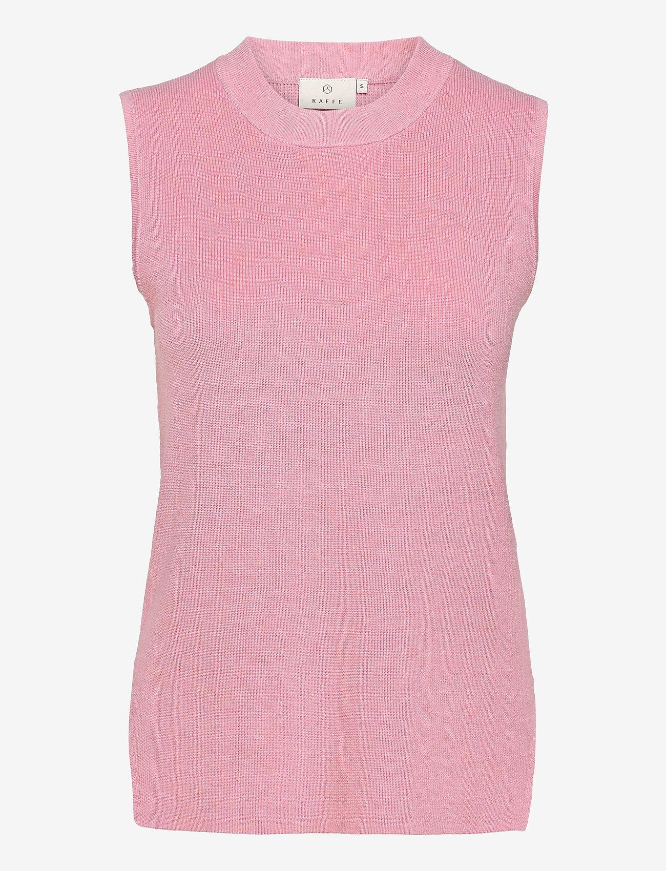 Kaffe - KAmiara Knit Vest - knitted vests - candy pink melange - 0