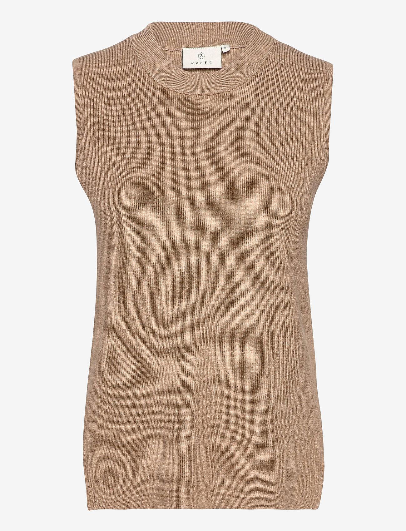 Kaffe - KAmiara Knit Vest - knitted vests - nomad melange - 0