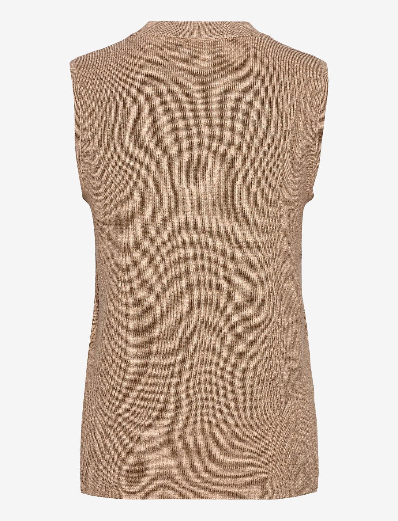 Kaffe - KAmiara Knit Vest - knitted vests - nomad melange - 1