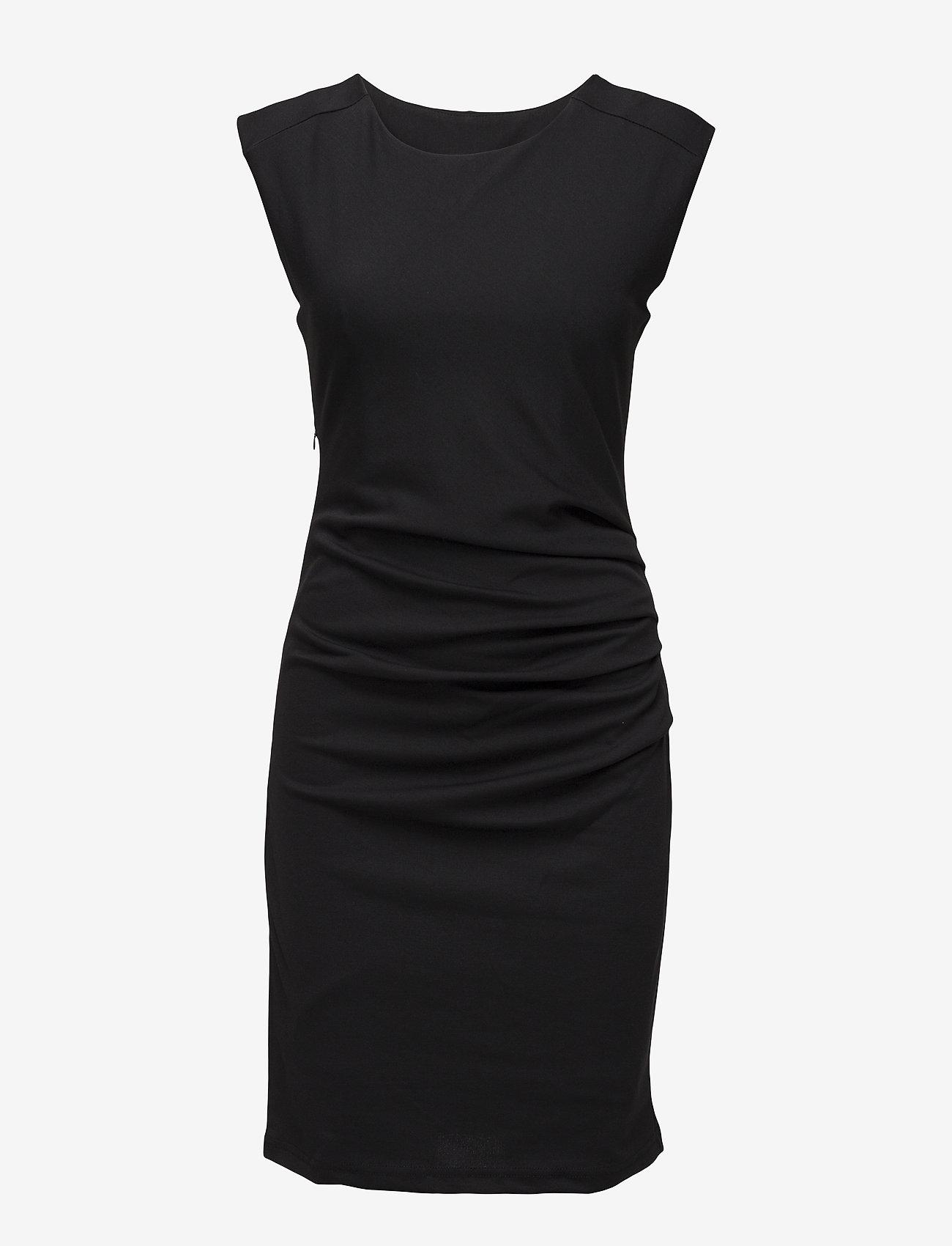 Kaffe - India Round-Neck Dress - midi kjoler - black deep - 1