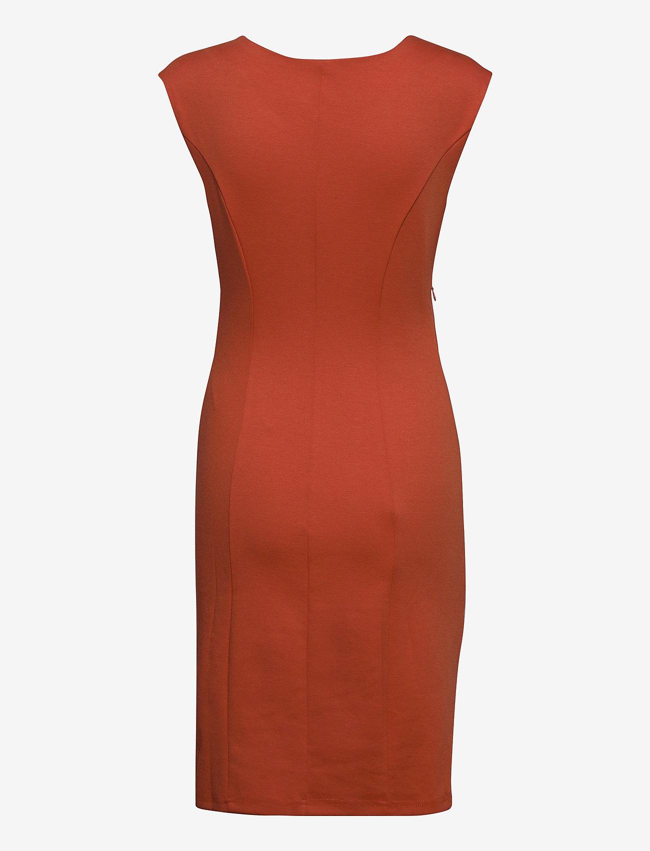 Kaffe - India Round-Neck Dress - midi kjoler - chili - 1