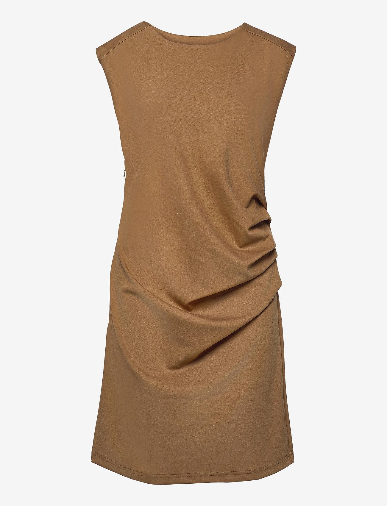 Kaffe - India Round-Neck Dress - midi kjoler - thrush - 1
