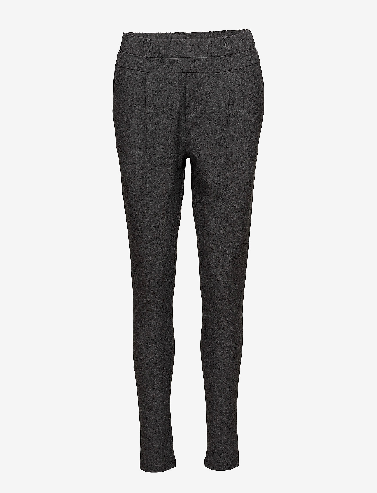 Kaffe - Jillian Pants - bukser med smalle ben - dark grey melange - 1