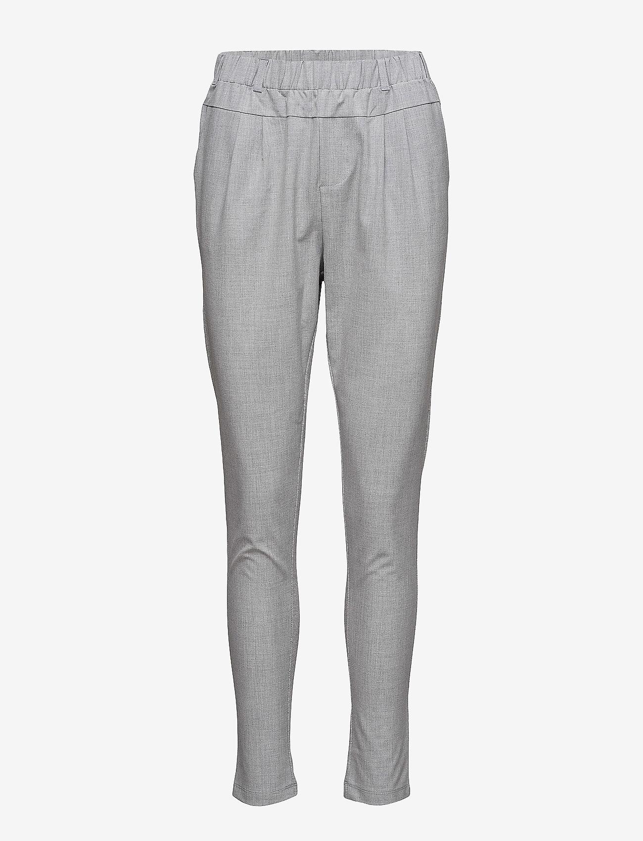 Kaffe - Jillian Pants - broeken med skinny fit - light grey melange - 0