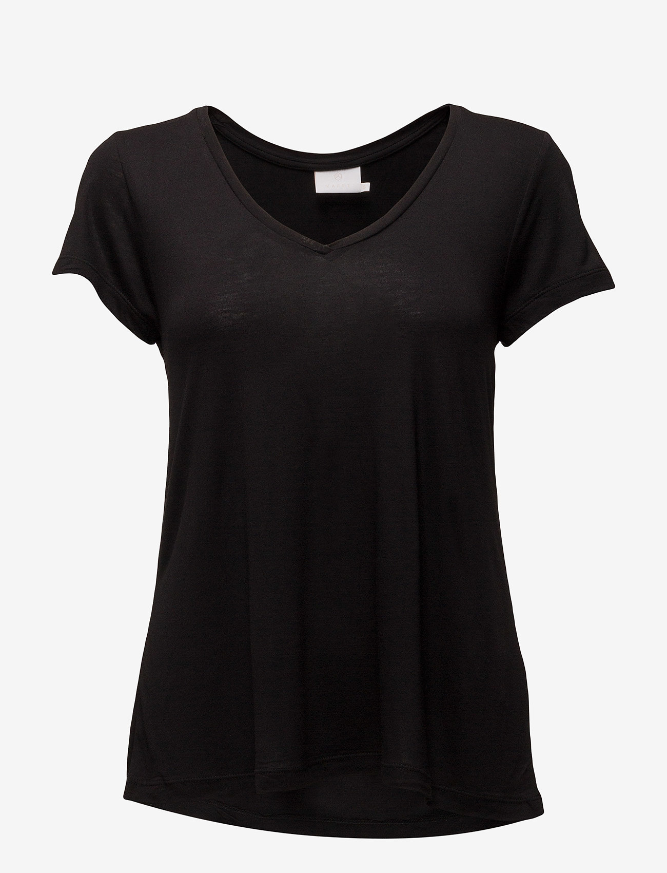 Kaffe - Anna V-Neck T-Shirt - t-shirts - black deep - 1